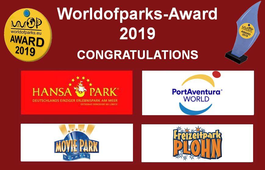 """Worldofparks - EU-Voting"""" – Der """"Worldofparks-Award 2019"""