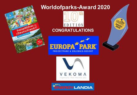 Worldofparks-Award - EU Voting 2020 - Die Gewinner