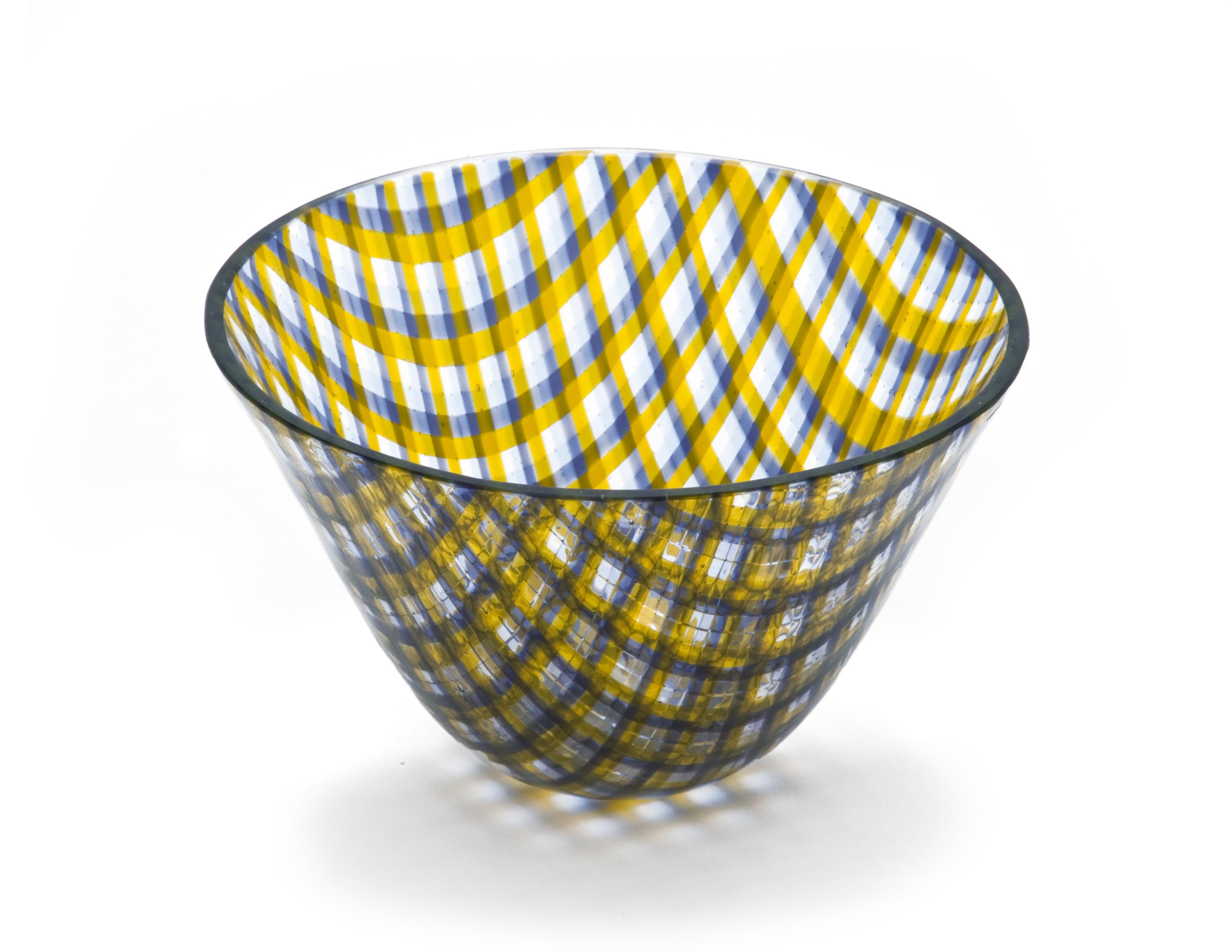 Transparent Plaid Bowl I
