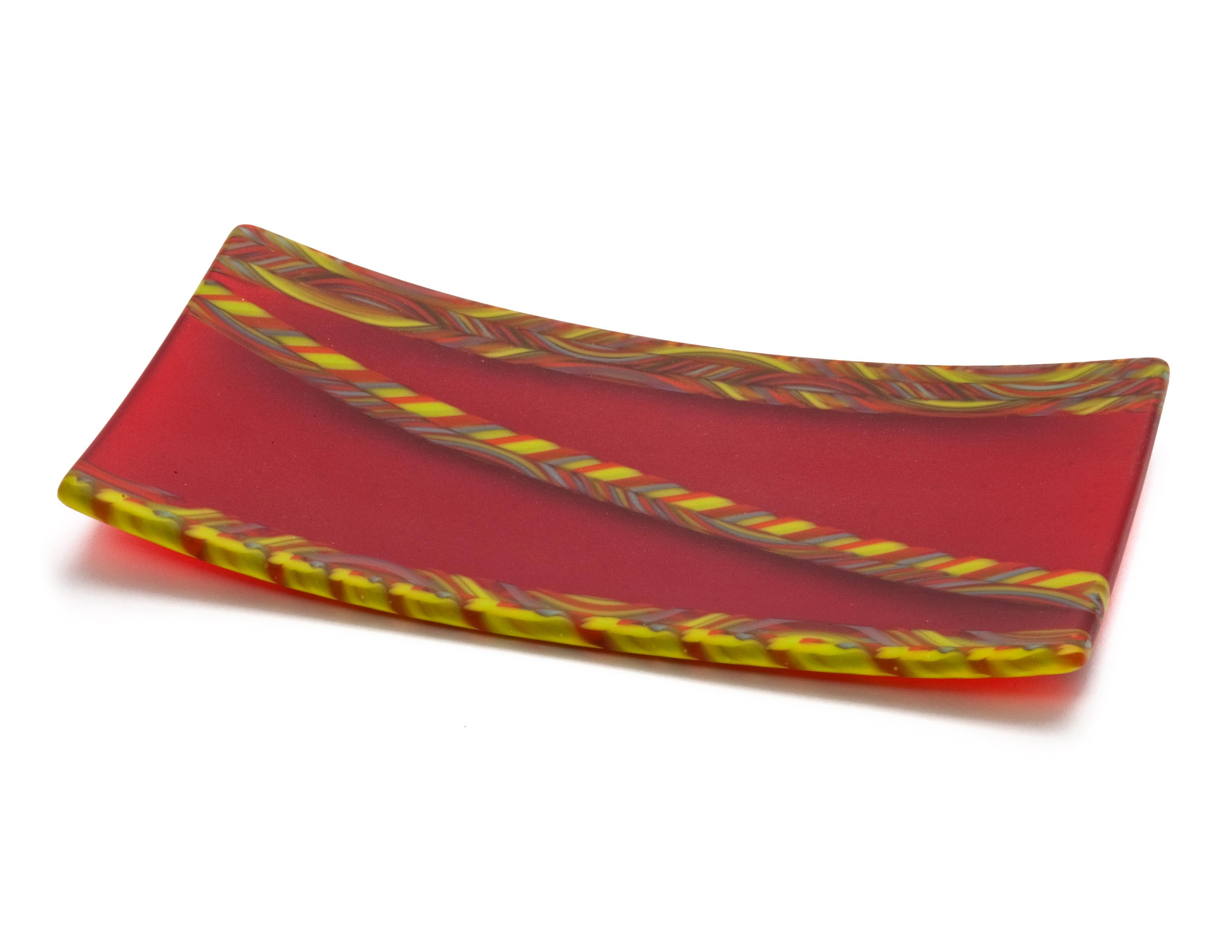 Orange Cane Plate