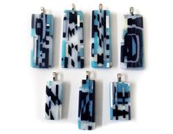Blue, Black and White Pendants