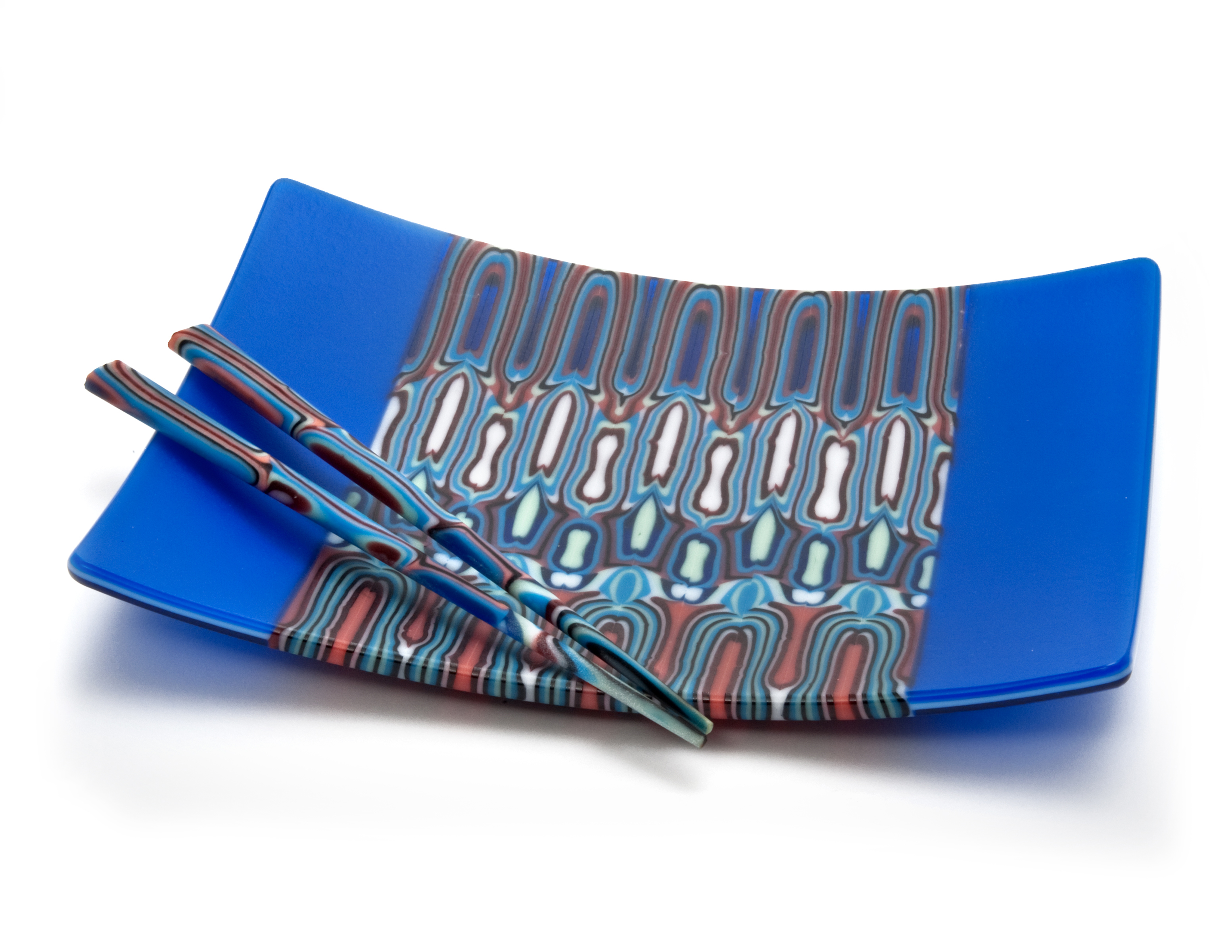 Blue Rectangular Sushi Plate