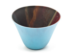 Blue Small Bowl with Inside Marbling