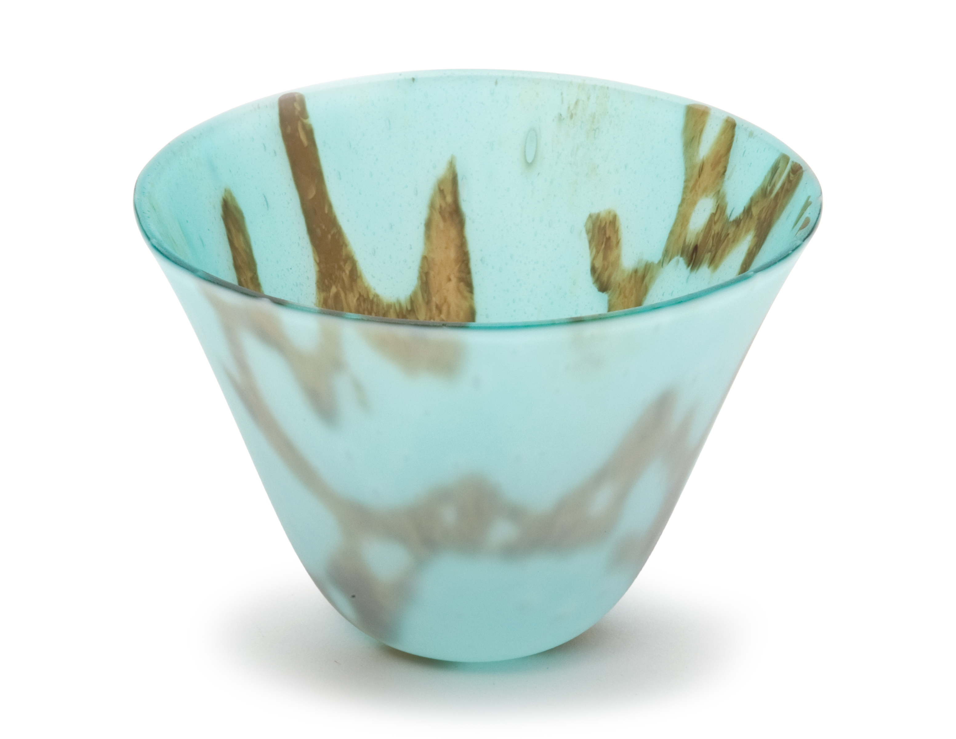 Turquoise and Gold Small Bowl