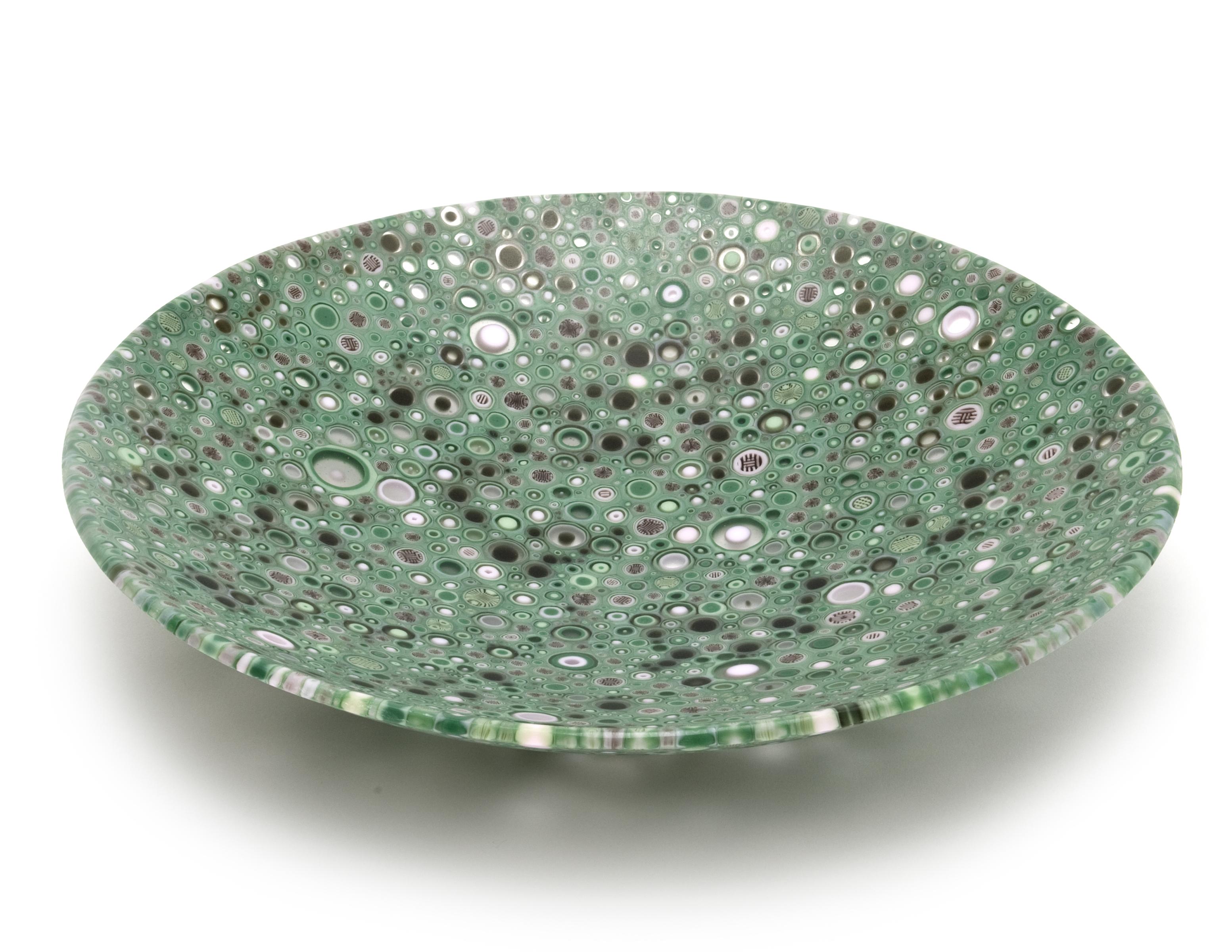 Large Bowl Green Murrine