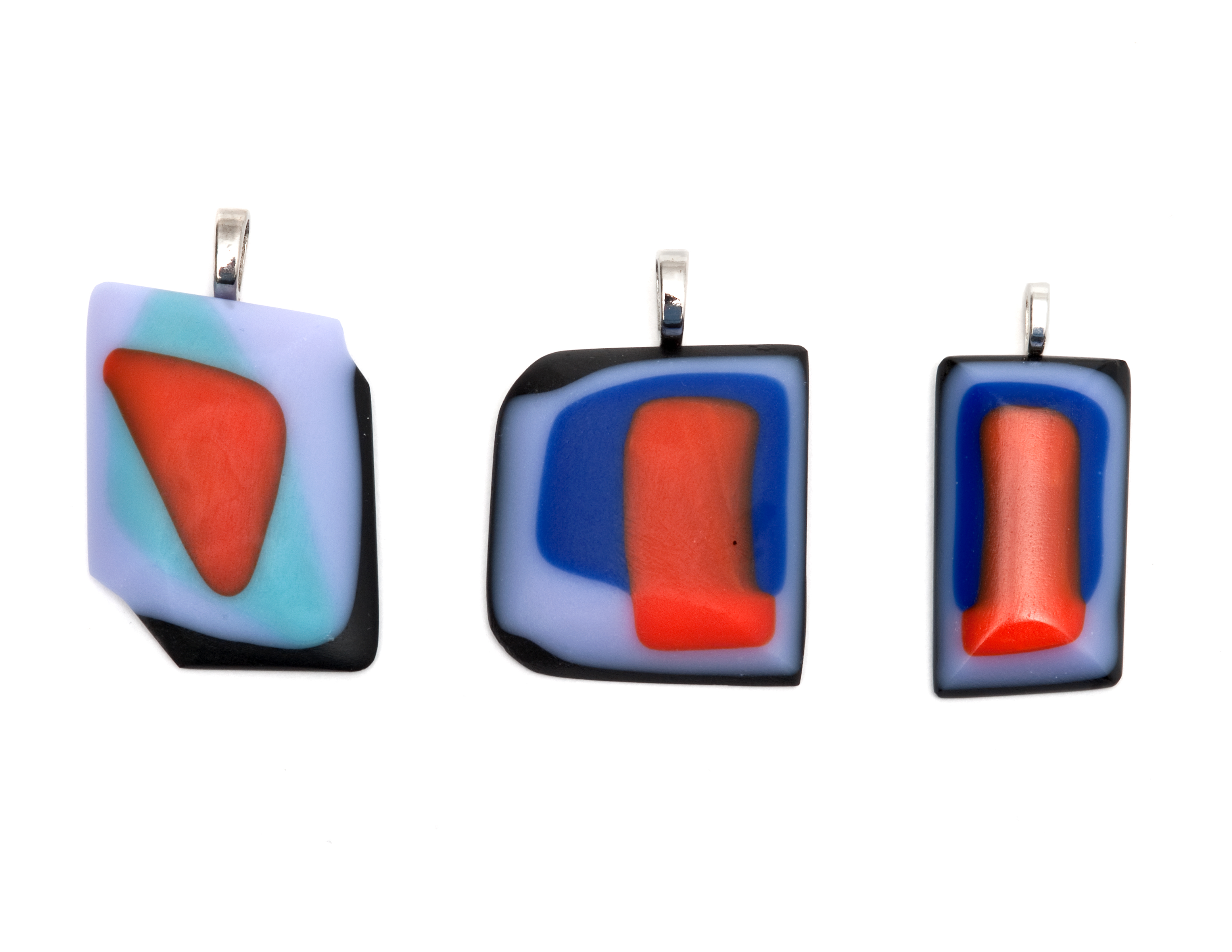 Blues, Red and Purple Pendants