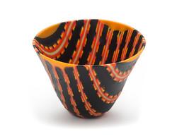 Orange and Sunflower Pattern Bowl