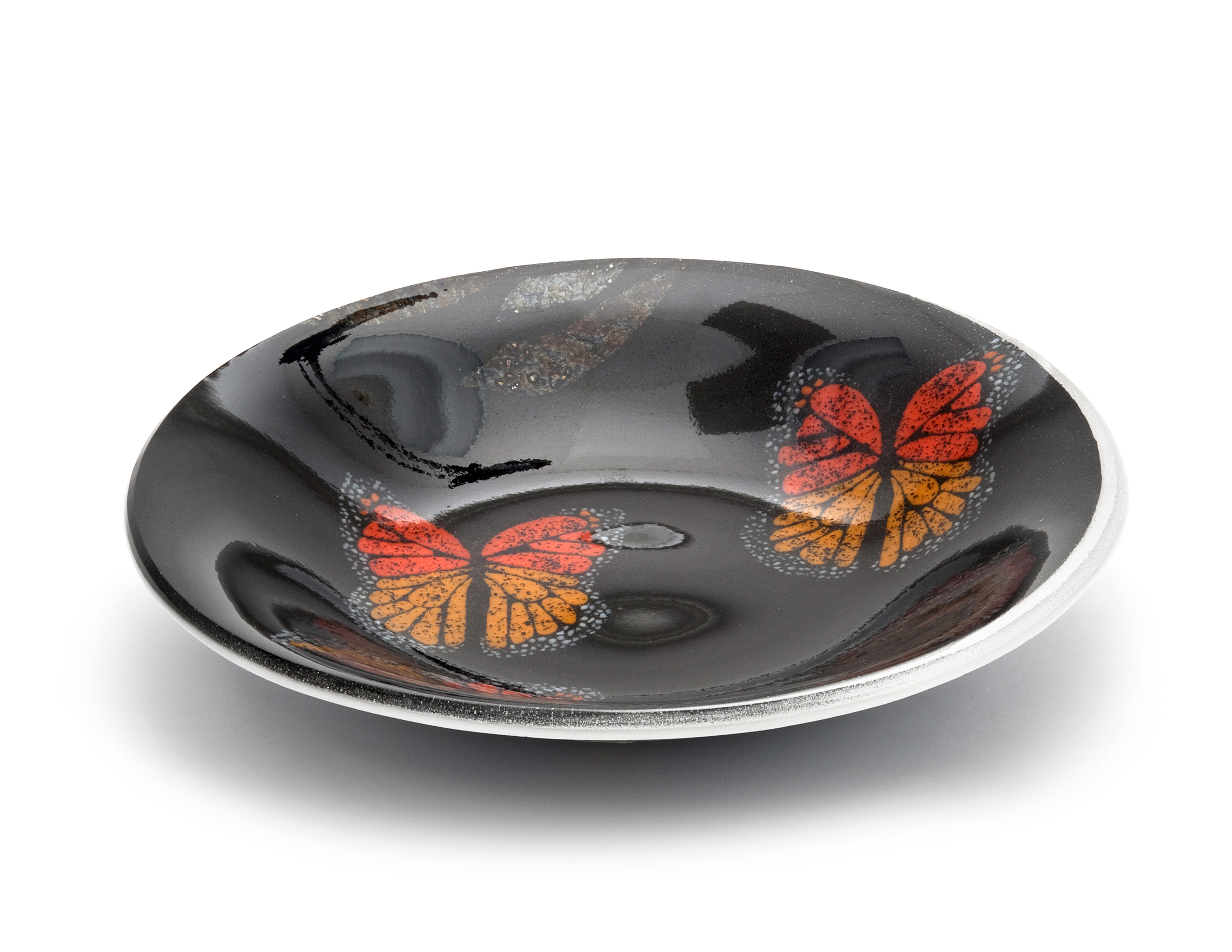 Black Large Bowl Butterflies