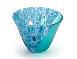 Small Blue Turquoise Murrine Bowl