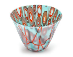 Orange and Turquoise Murrine Bowl
