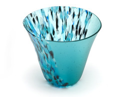 Turquoise and Black Small Bowl