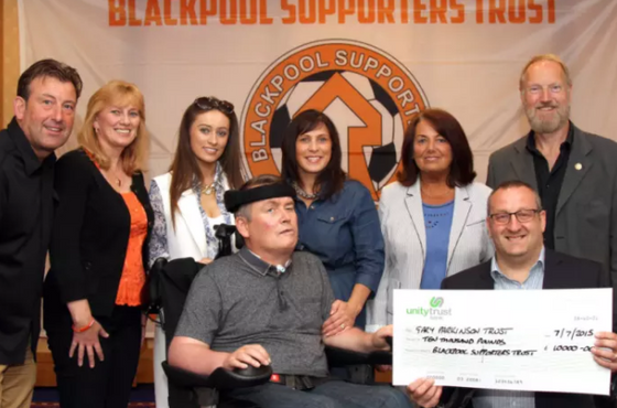 Parky Says Thanks For £10k Pool