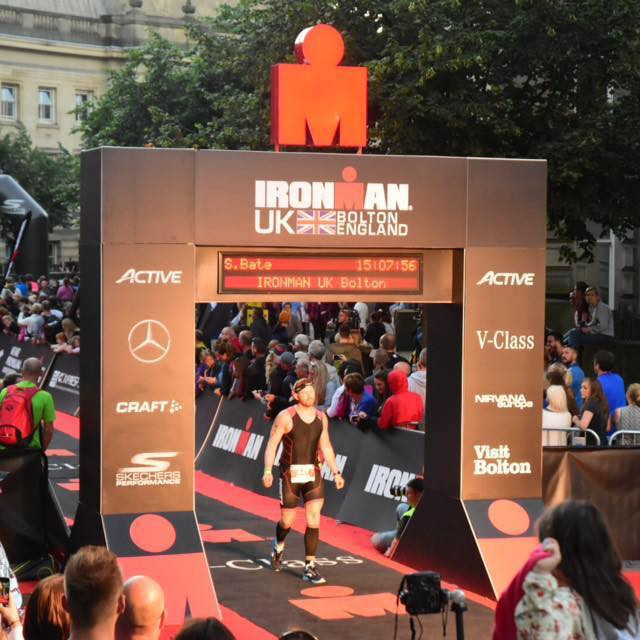 Ste completing the IRONMAN in 2016