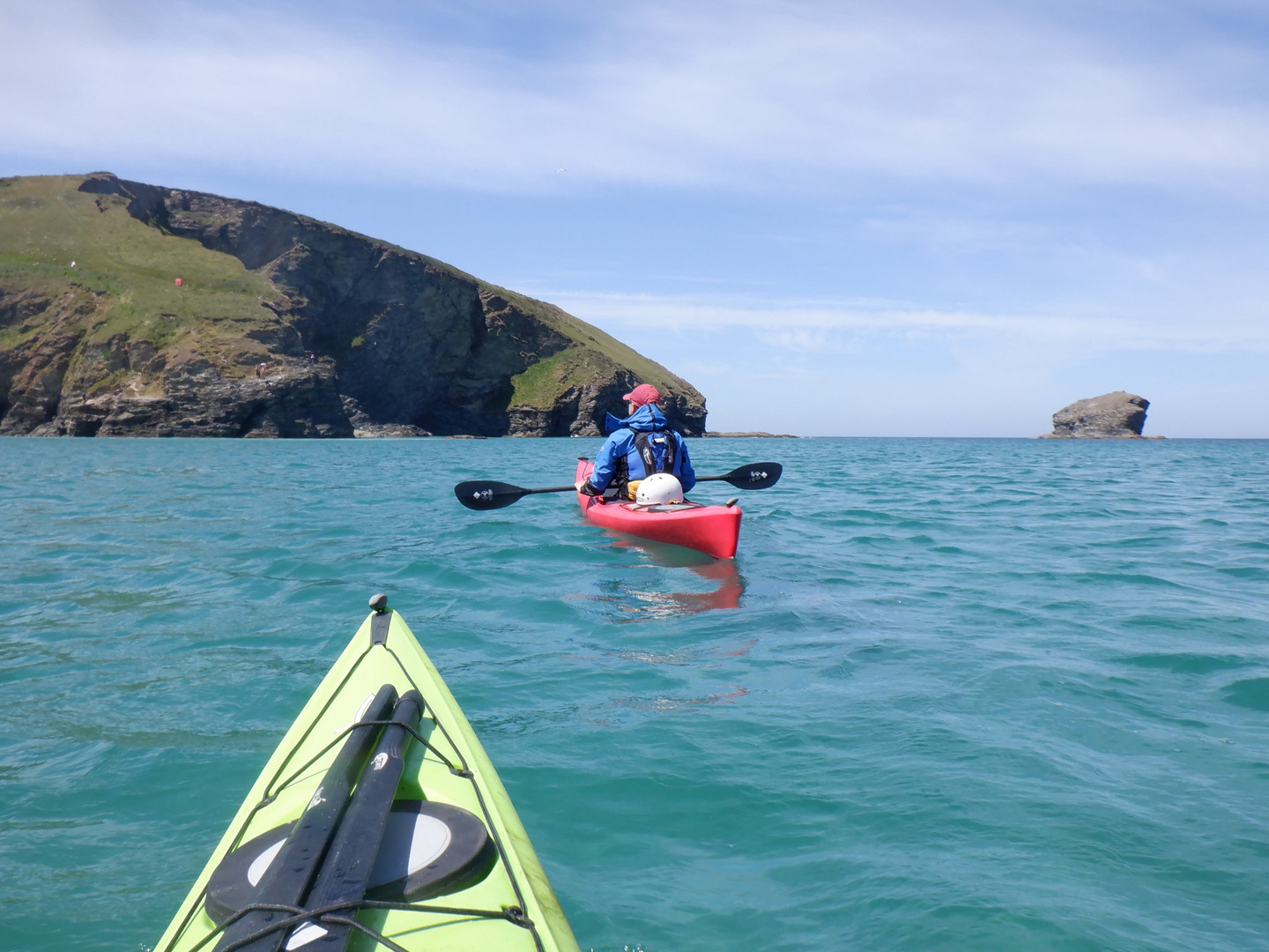 Paddler off portreath.JPG