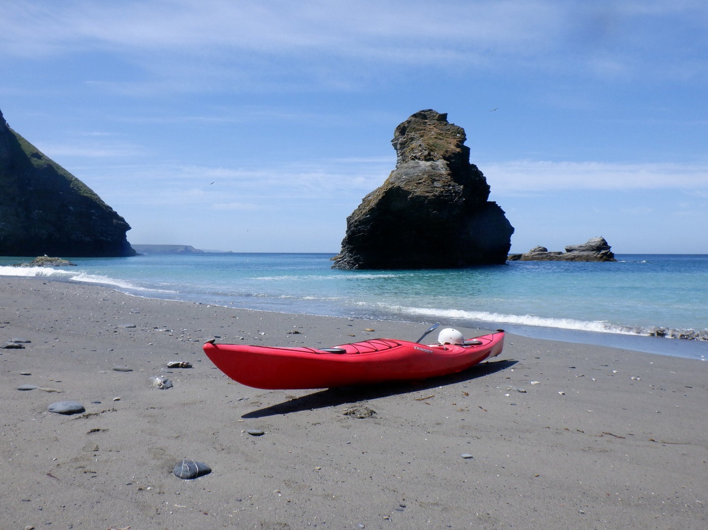 Around the corner from portreath boat on