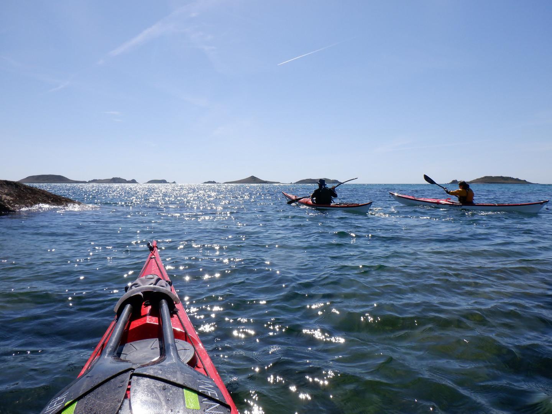 Early evening sea kayak