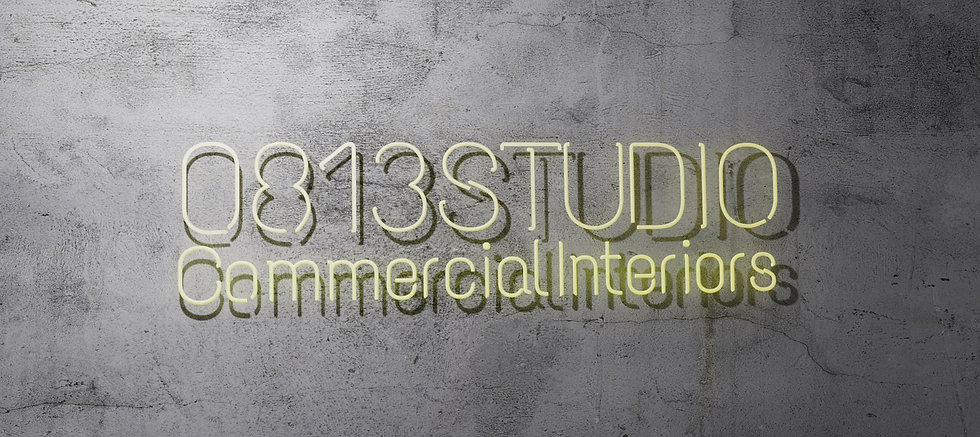 0813 Studio - Commercial Interior Designs, Sydney, NSW Yellow Neon Logo Sign as Background. 0813 Studio is leading commercial interior design studio based in Sydney servicing NSW and ACT, with more than 15 years of project experience, specialising in office design, retail design, commercial, serviced office design, co-working projects, as well as providing well-established project management service.
