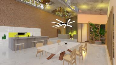 0813 Studio commercial interiors 3D rend