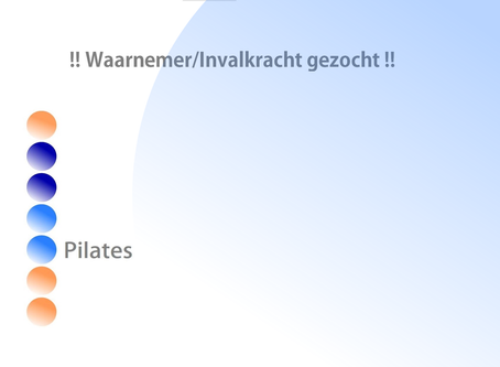 Waarnemer/invalkracht Medical Pilates gezocht i.v.m. zwangerschapsverlof Odette
