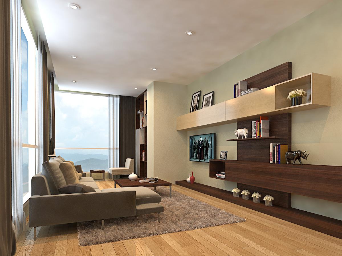 Corner Unit Living Hall