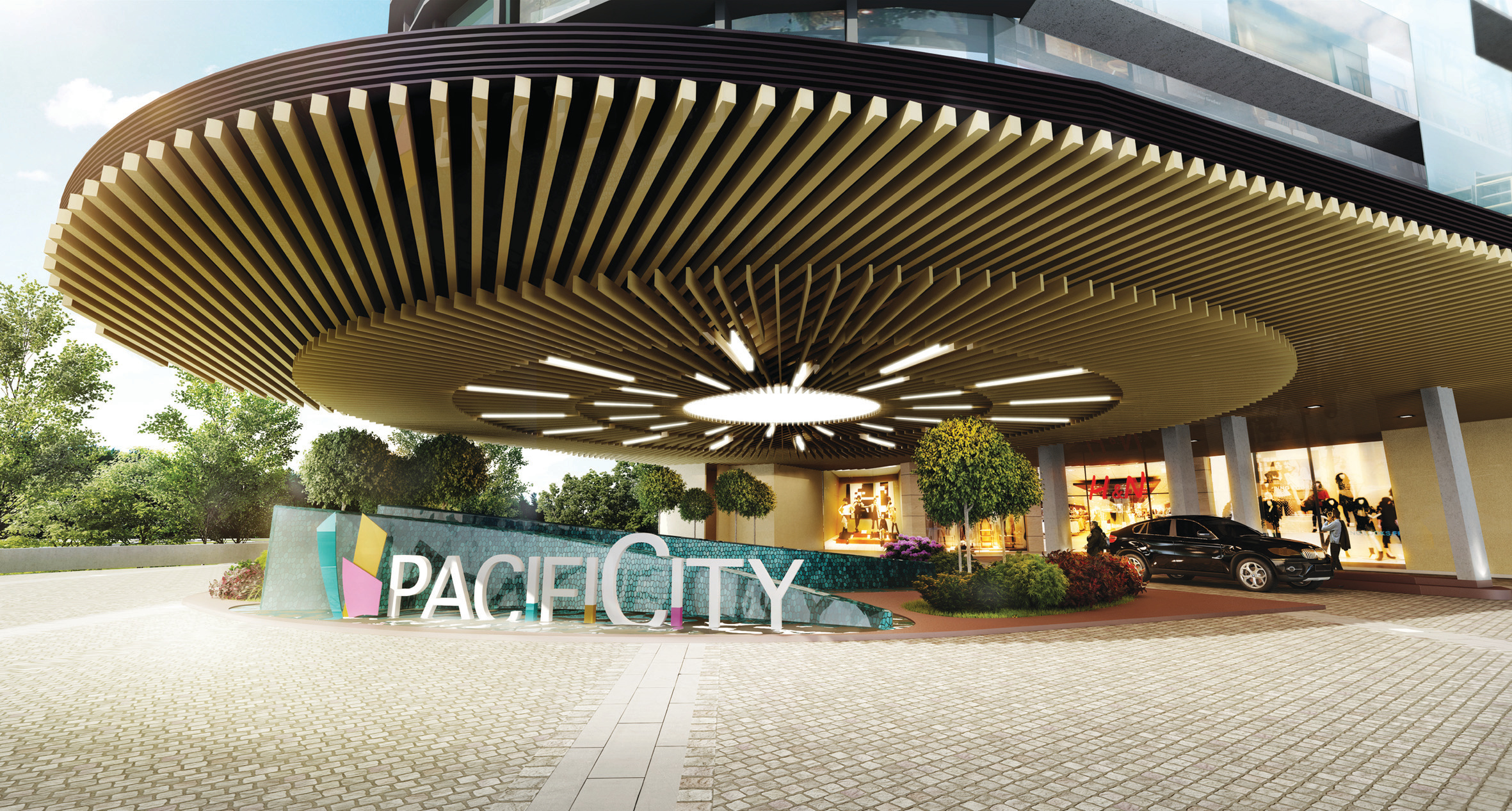 PACIFICITY Mall drop off area