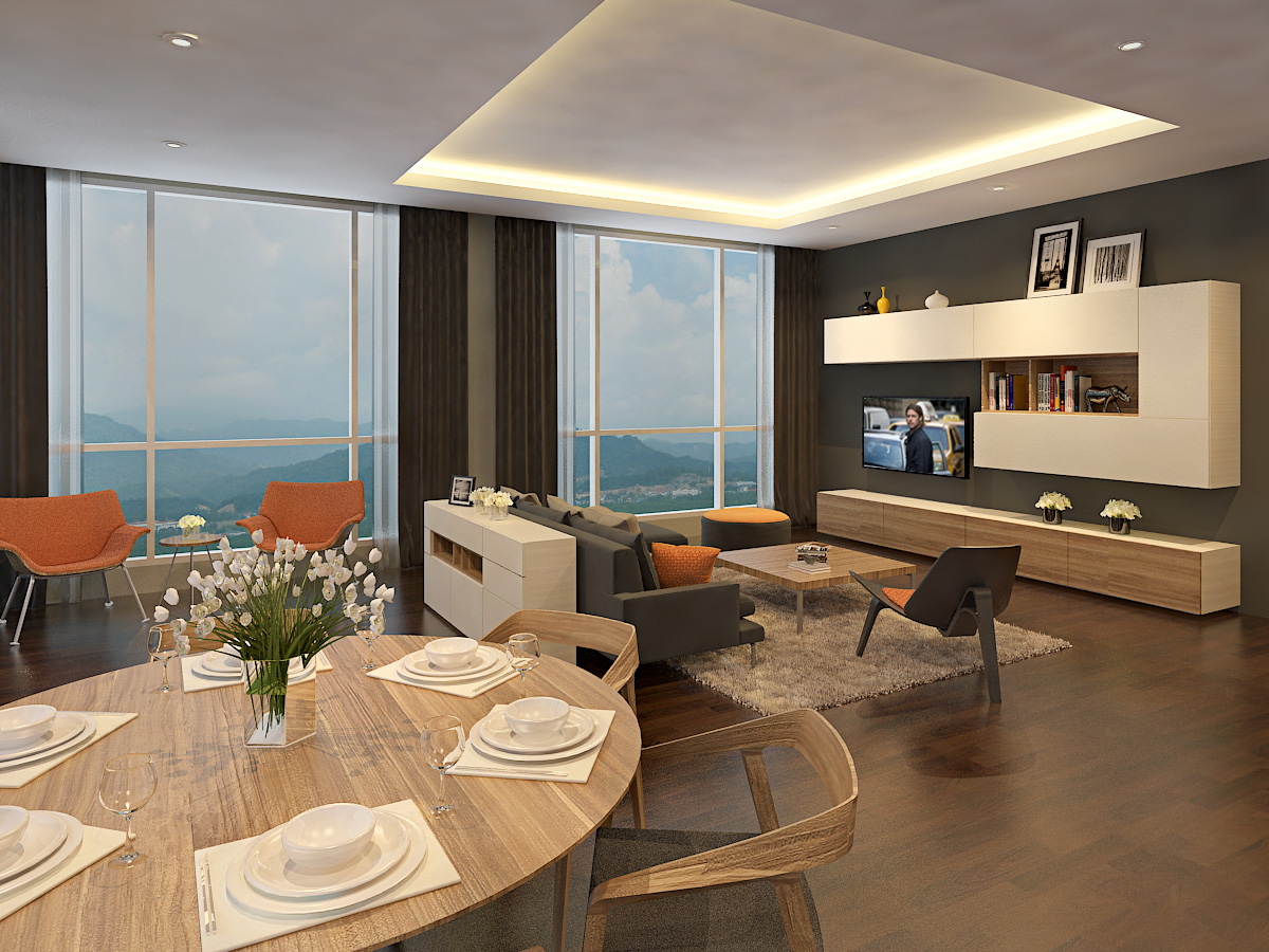 Spacious Living & Dining Hall
