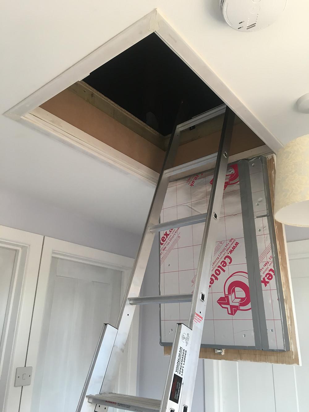 New loft hatch and ladder in Kidlington
