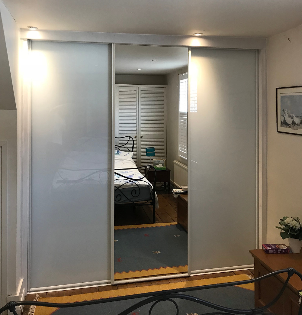 Sliding wardrobe doors fitted in Botley