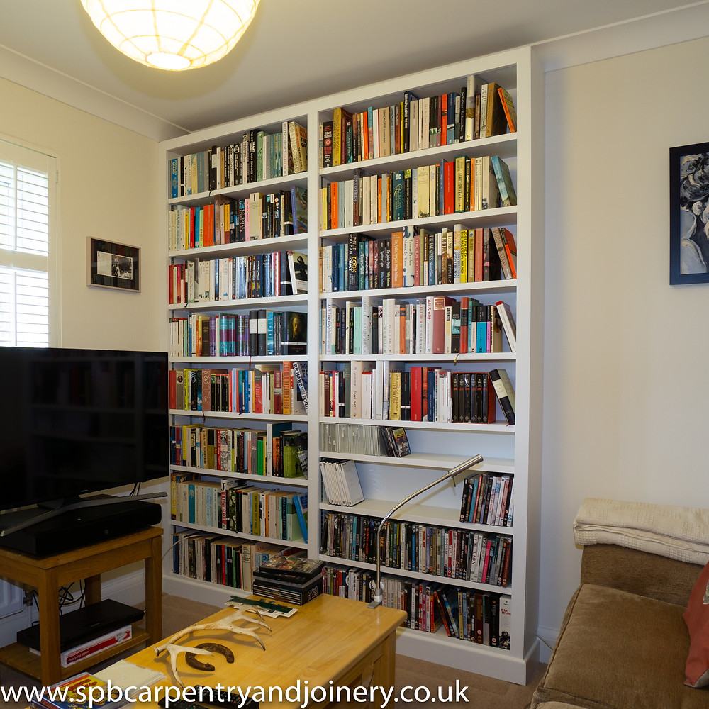 DVD & Book Shelving Fitted by SPB Carpentry & Joinery