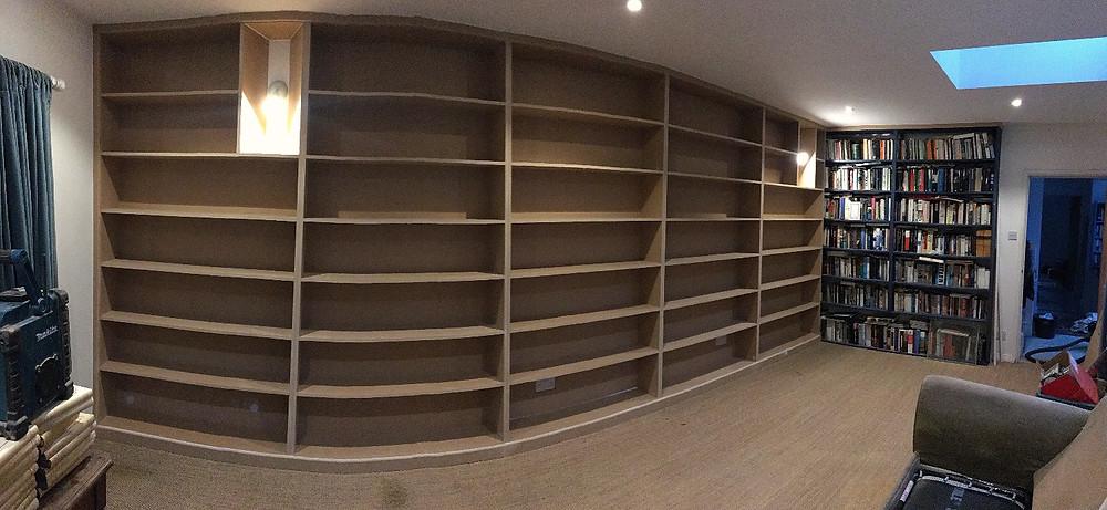 Bookshelves fitted in Headington