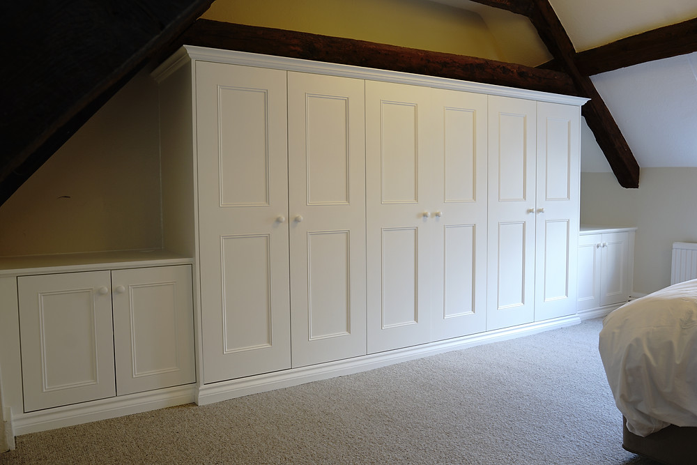 Traditional wardrobe with two side cabinets fitted in Bampton