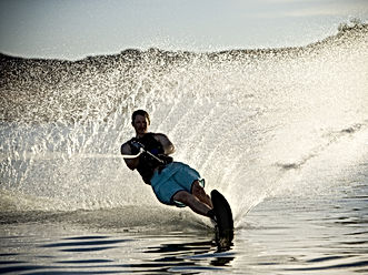 Man on a water ski. (soft focus and slig