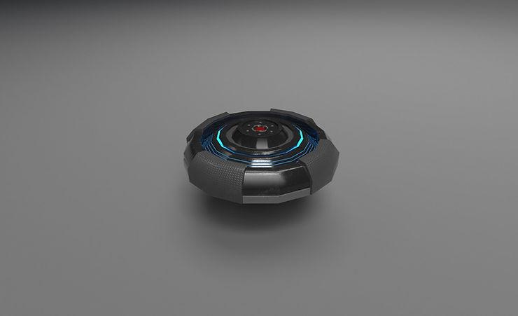 scifi mine 3d model free