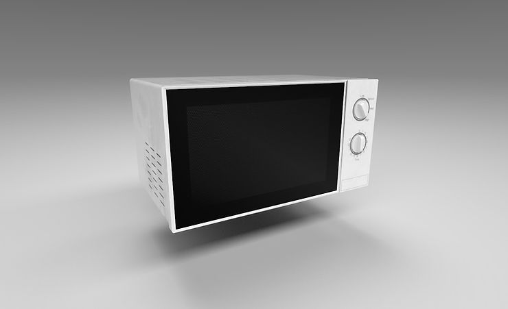 microwave 3d model free download