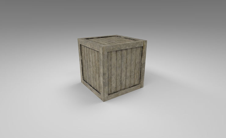 wooden crate 3d model free