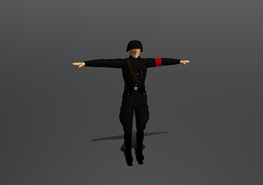Public domain 3D model of German WW2 Soldier