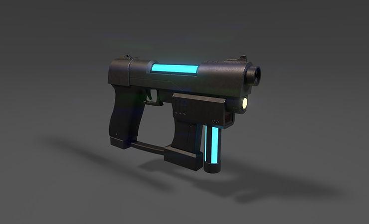 sci fi gun free 3d model