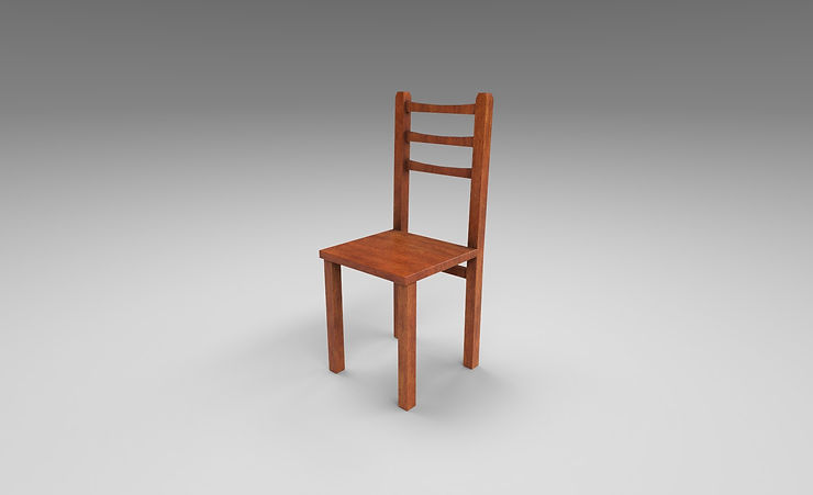 wood chair 3d model free download