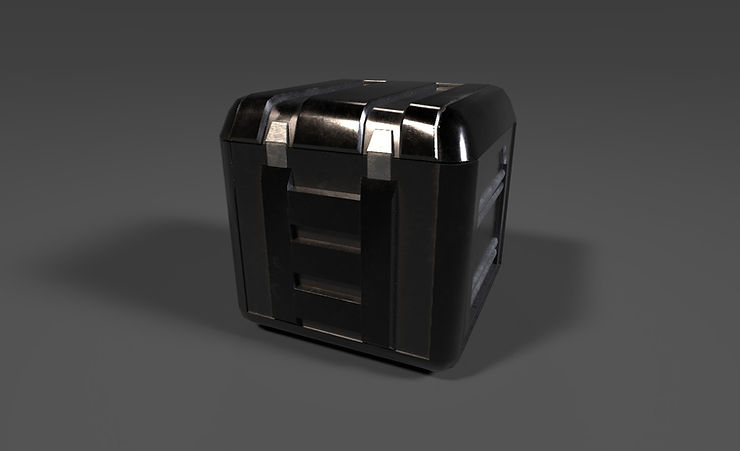 scifi container 3d model free download