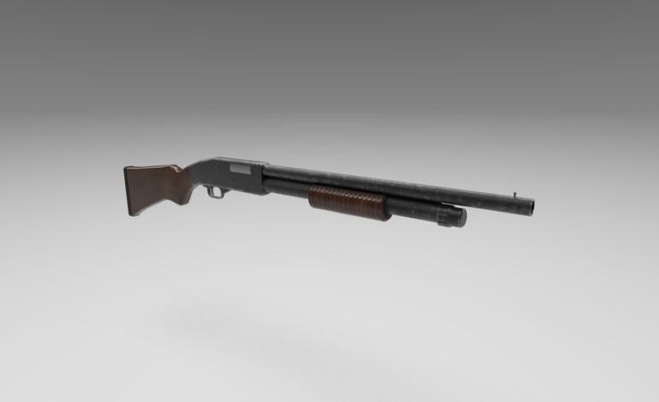 shotgun 3d model free