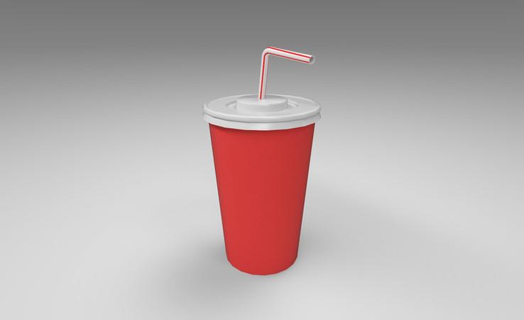 soda cup 3d model free download
