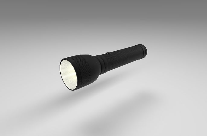 public domain flashlight 3d model free download