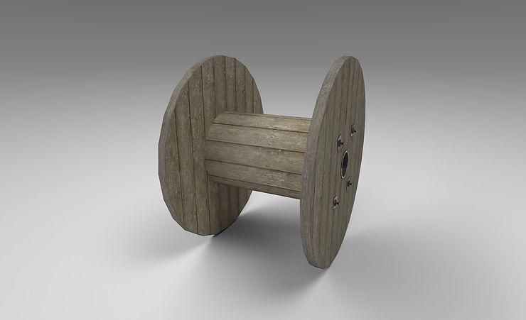 cable drum 3d model