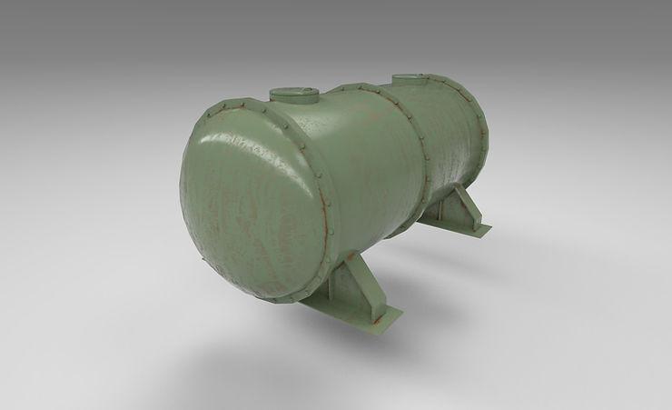 gas tank 3d model free