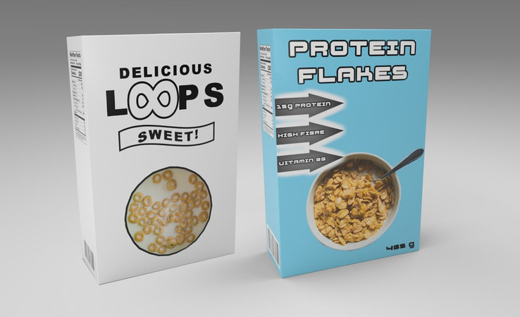 cereal free 3d model