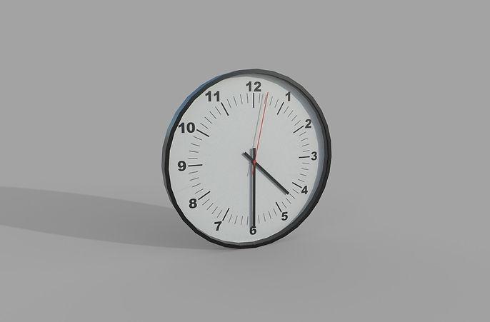 Wall clock 3d model free