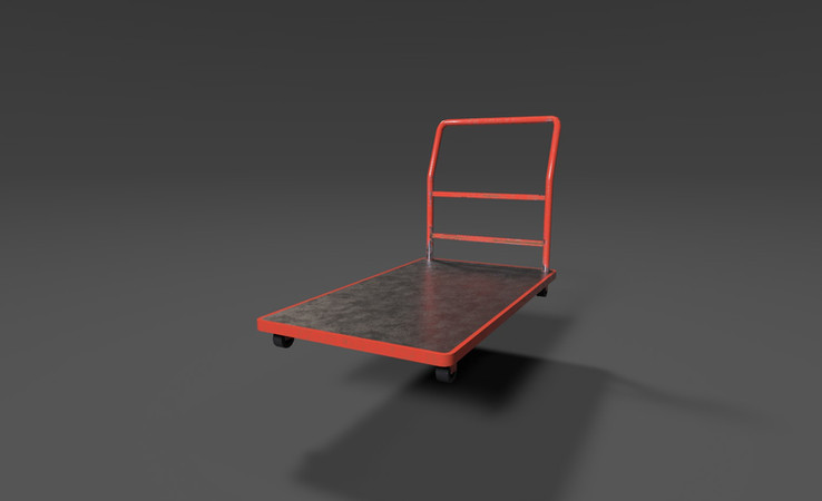 free platform trolley 3d model