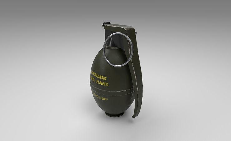 frag grenade 3d model free