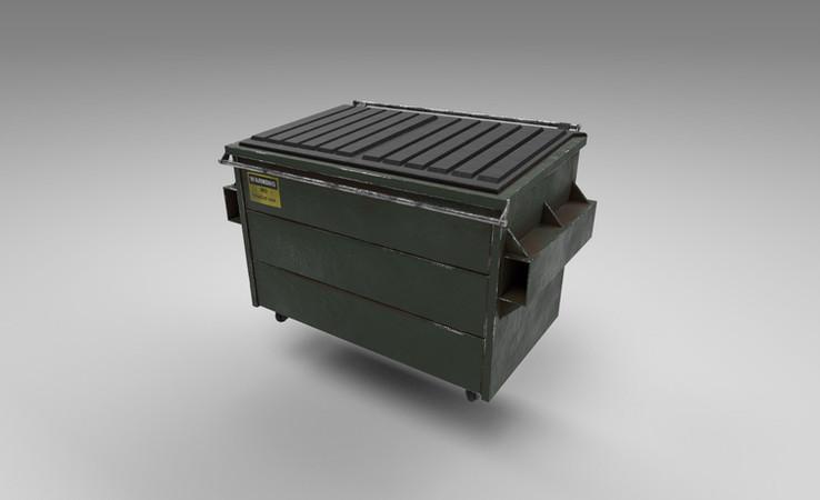dumpster 3d model free
