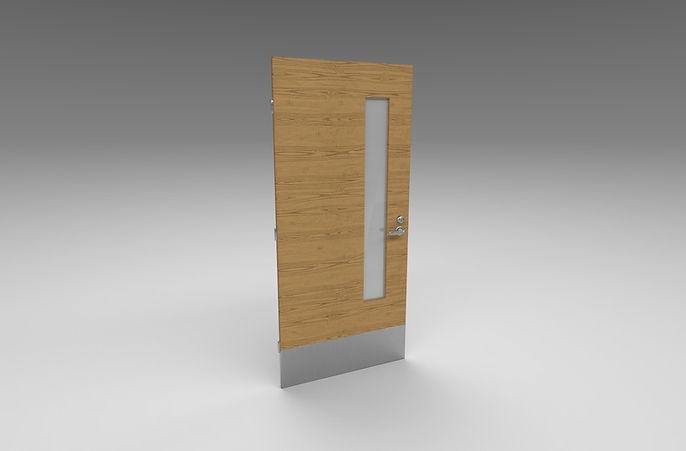 wooden metal door 3d model free